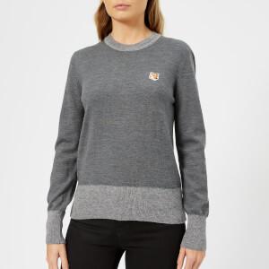 Maison Kitsuné Women's Merinos R Neck Pullover - Grey Melange