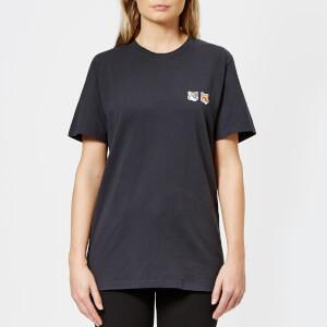 Maison Kitsuné Women's Par Rec Double Fox Patch T-Shirt - Anthracite