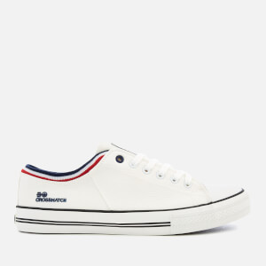 Crosshatch Men's Rotherham Plimsolls - White