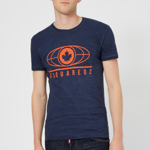 Dsquared2 Men's Super Vintage Dyed T-Shirt - Navy Blue