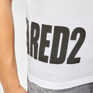 Dsquared2 Men's Hem Logo T-Shirt - White: Image 4