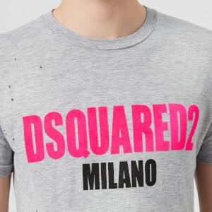 Dsquared2 Men's Destroyed T-Shirt - Grey Melange: Image 4