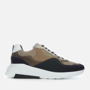 Android Homme Men's Malibu Runner Leather/Suede Runner Style Trainers - Navy/Stone