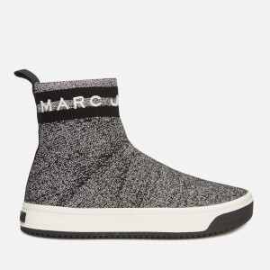Marc Jacobs Women's Dart Sock Trainers - Silver/Black