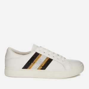 Marc Jacobs Women's Empire Strass Leather Low Top Trainers - White
