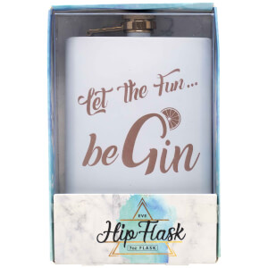 Let The Fun Be Gin Hip Flask
