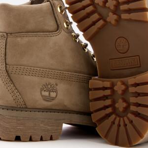 Timberland Kids' 6 Inch Premium Waterproof Leather Boots - New Greige Waterbuck: Image 4