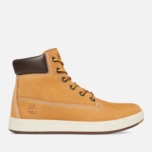 Timberland Kids' Davis Square 6 Inch Leather Boots - Wheat