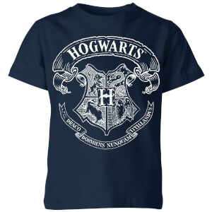 Harry Potter Hogwarts Crest Kinder T-shirt - Navy