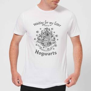 T-Shirt Homme J'attends Ma Lettre de Poudlard - Harry Potter - Blanc
