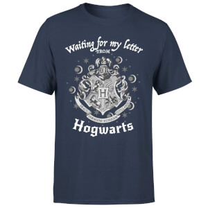 Harry Potter Waiting For My Letter From Hogwarts Men's T-Shirt - Navy
