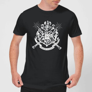 T-Shirt Harry Potter Hogwarts House Crest - Nero - Uomo