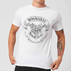 Harry Potter Hogwarts Crest T-shirt - Wit