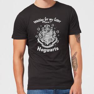T-Shirt Homme J'attends Ma Lettre de Poudlard - Harry Potter - Noir