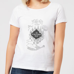 T-Shirt Femme Carte du Maraudeur - Harry Potter - Blanc