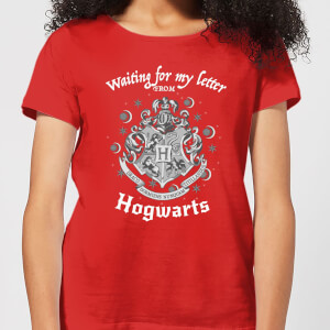 T-Shirt Femme J'attends Ma Lettre de Poudlard - Harry Potter - Rouge