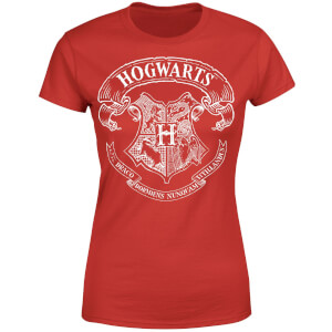 T-Shirt Femme Blason de Poudlard - Harry Potter - Rouge