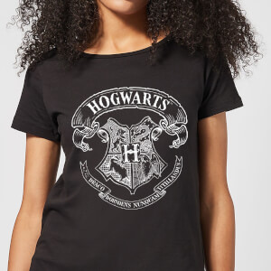 Harry Potter Hogwarts Crest Damen T-Shirt - Schwarz
