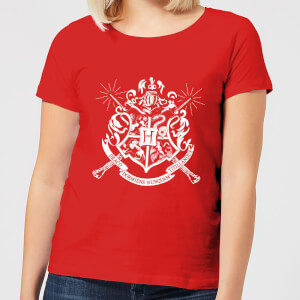 Harry Potter Hogwarts Dames T-shirt - Rood