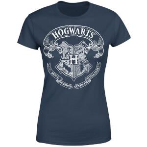 T-Shirt Femme Blason de Poudlard - Harry Potter - Bleu Marine