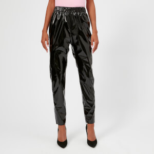 MSGM Women's PVC Leggings - Black