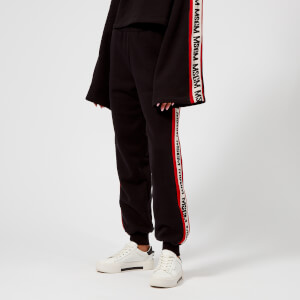 MSGM Women's Side Logo Trousers - Black