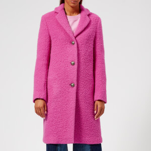 MSGM Women's Smart Textured Coat - Pink