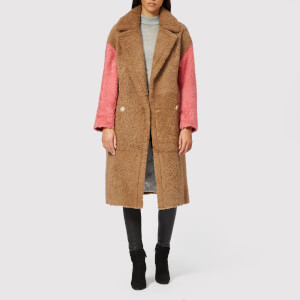 Anne Vest Women's Coze Shearling Coat - Brown/Pink