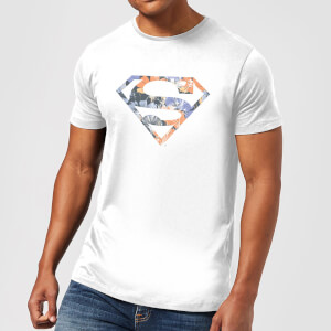 T-Shirt Homme Logo Superman Fleuri DC Originals - Blanc