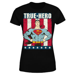 DC Originals Superman True Hero  Women's T-Shirt - Black