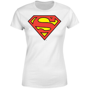 DC Originals Official Superman Shield Damen T-Shirt - Weiß