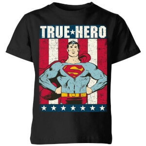 DC Originals Superman True Hero Kinder T-shirt - Zwart