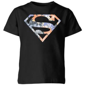 DC Originals Floral Superman Kinder T-shirt - Zwart