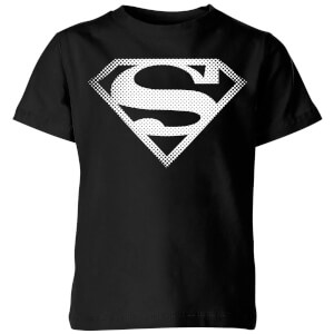 DC Originals Superman Spot Logo Kinder T-Shirt - Schwarz