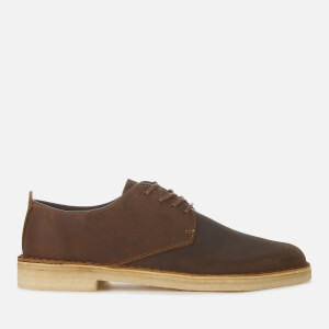 Clarks Originals Men's Desert London Leather Derby Shoes - Beeswax