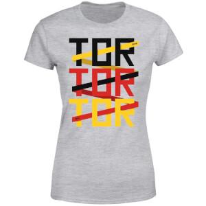 T-Shirt Femme TOR TOR TOR Football - Gris