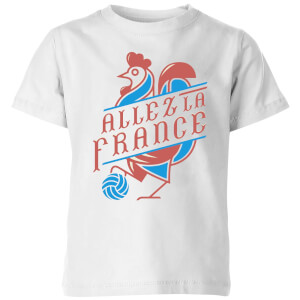 T-Shirt Enfant Allez La France Football - Blanc