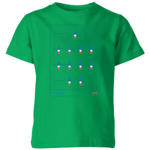 France Fooseball Kinder T-Shirt - Grün