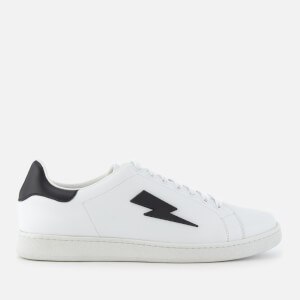 Neil Barrett Men's Thunderbolt Tennis Trainers - White/Black