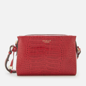 Radley Women's Abbotsford House Small Cross Body Bag Ziptop - Claret/Fauxcroc