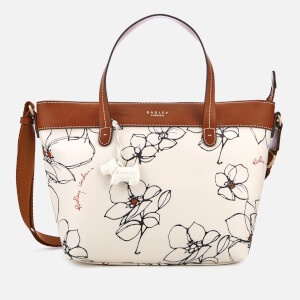 Radley Women's Linear Flower Medium Multiway Tote Bag - Chalk