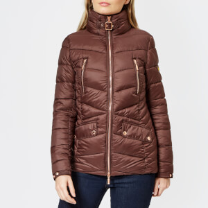 Barbour International Women's Autocross Quilt Jacket - Cocoa