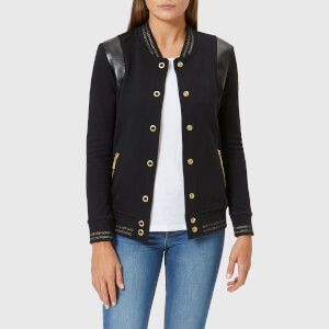 Barbour International Women's Grid Bomber Jacket - Black