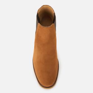 Clarks Men's Clarkdale Gobi Suede Chelsea Boots - Dark Tan: Image 3