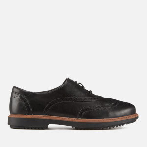 Clarks Women's Raisie Hilde Leather Brogues - Black
