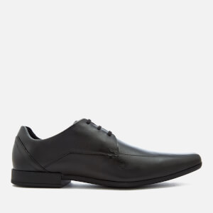 Clarks Men's Glement Over Leather Derby Shoes - Black