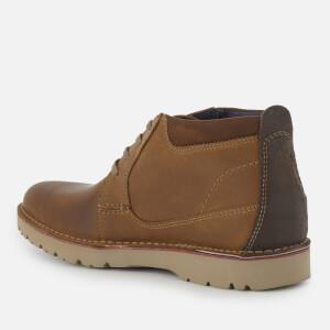 Clarks Men's Vargo Mid Leather Chukka Boots - Dark Tan: Image 2
