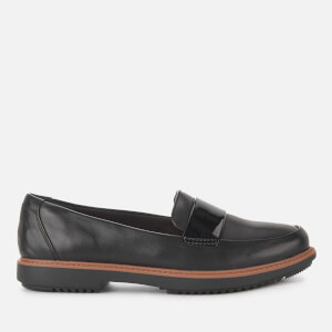 Clarks Women's Raisie Arlie Leather Loafers - Black
