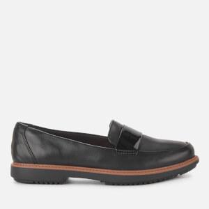 Clarks Women's Raisie Arlie Leather Loafers - Black