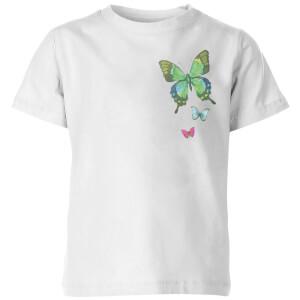 My Little Rascal Pocket Butterflies Kids' T-Shirt - White
